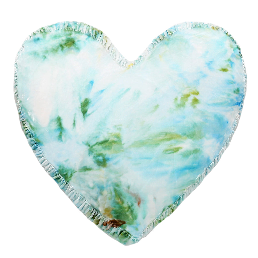 Limited Edition - Cool Breeze Tie-Dye Heart Pillow