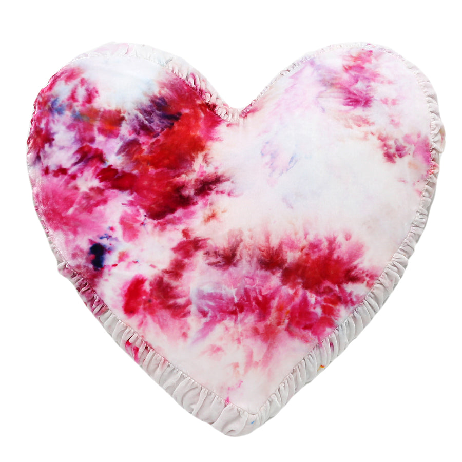 Limited Edition -Hearts On Fire Tie-Dye Pillow
