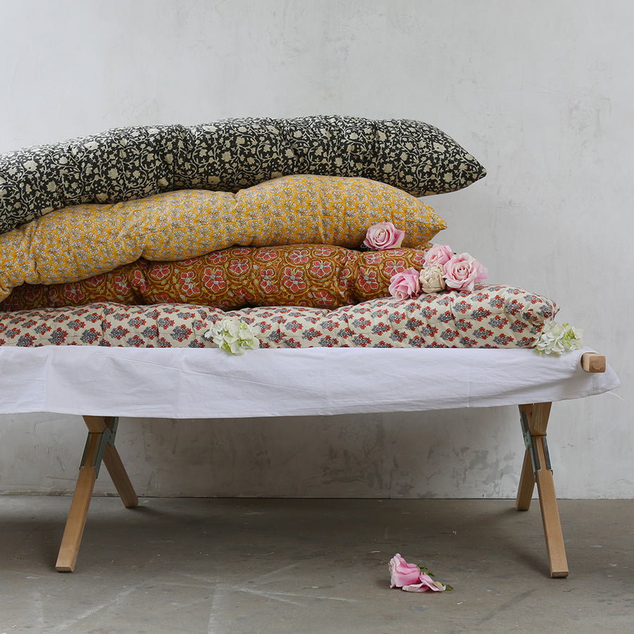 Printed Floral Tufted Cushions