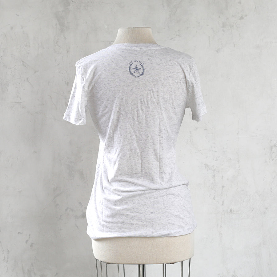 30% OFF Prairie V-Neck T-Shirt - Heather Grey