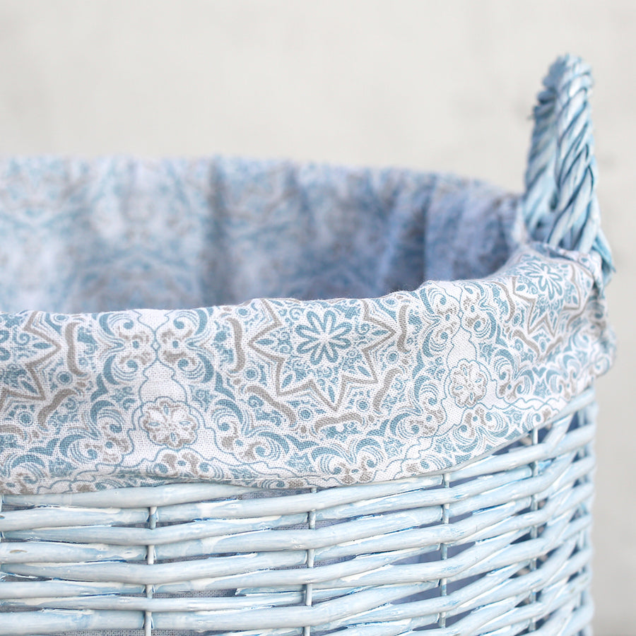 Shabby Chic Storage -  Blue Willow Hamper