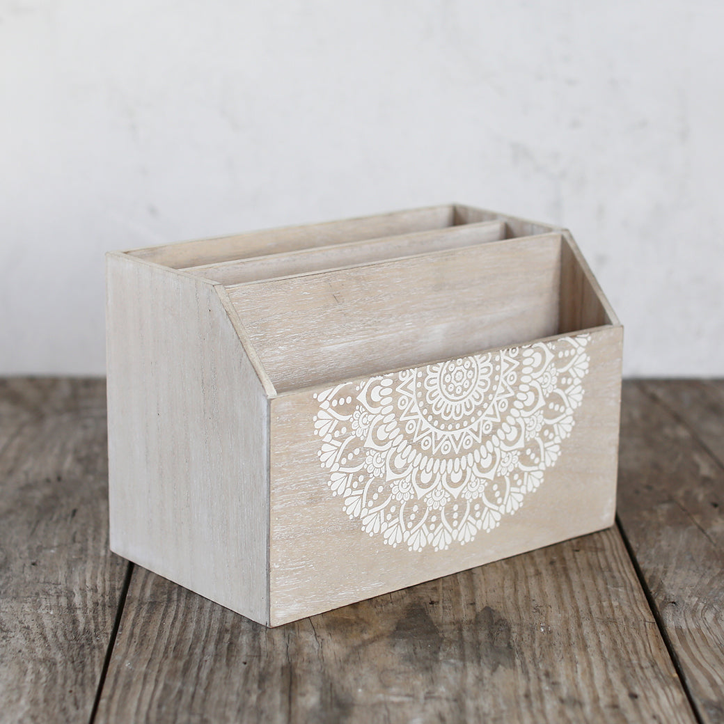 Shabby Chic Storage  - Lacey Collection - Desk Letter Holder