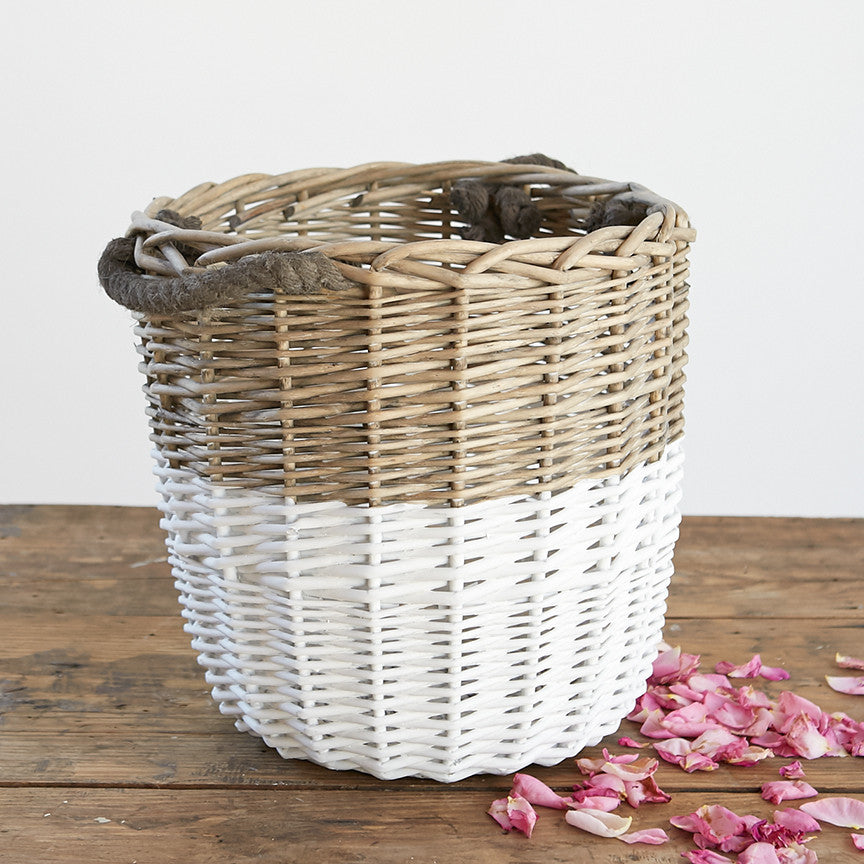 White Dipped Baskets
