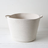 White Cross Stitch Woven Baskets