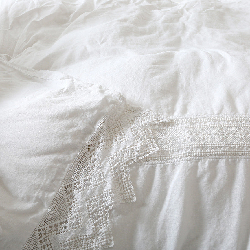 White Cluny Lace Bedding Collection at Rachel Ashwell ...
