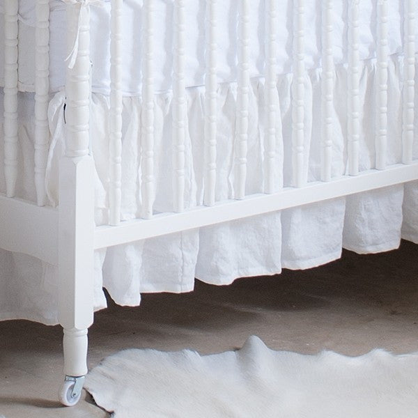Crib skirt cottage linen