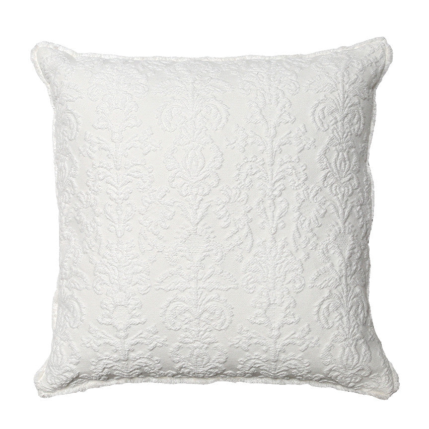 Back-in-Stock - Damask Snow Ivory Pillow by Rachel Ashwell