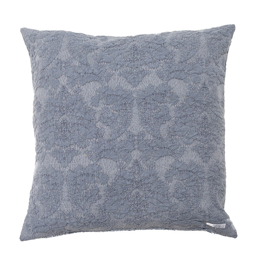 50% OFF Indigo Puckered Damask Pillow