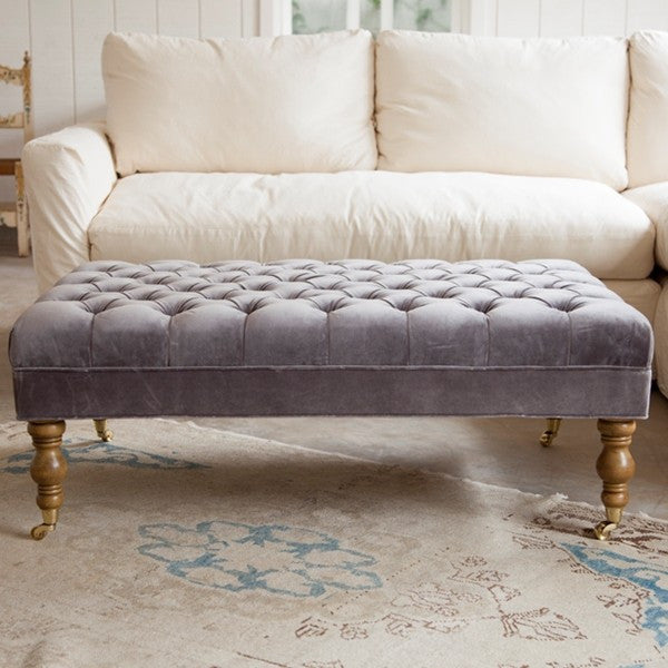 Liliput Tufted Ottoman At Rachel Ashwell Shabby Chic Couture