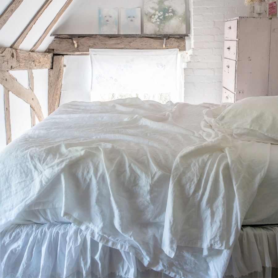 20% OFF Angel White Linen Sheets & Shams by Rachel Ashwell