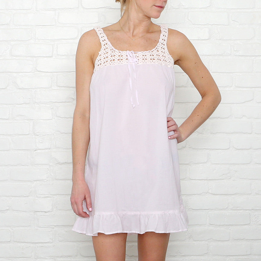 20% OFF Crochet Petal Pink Nighties