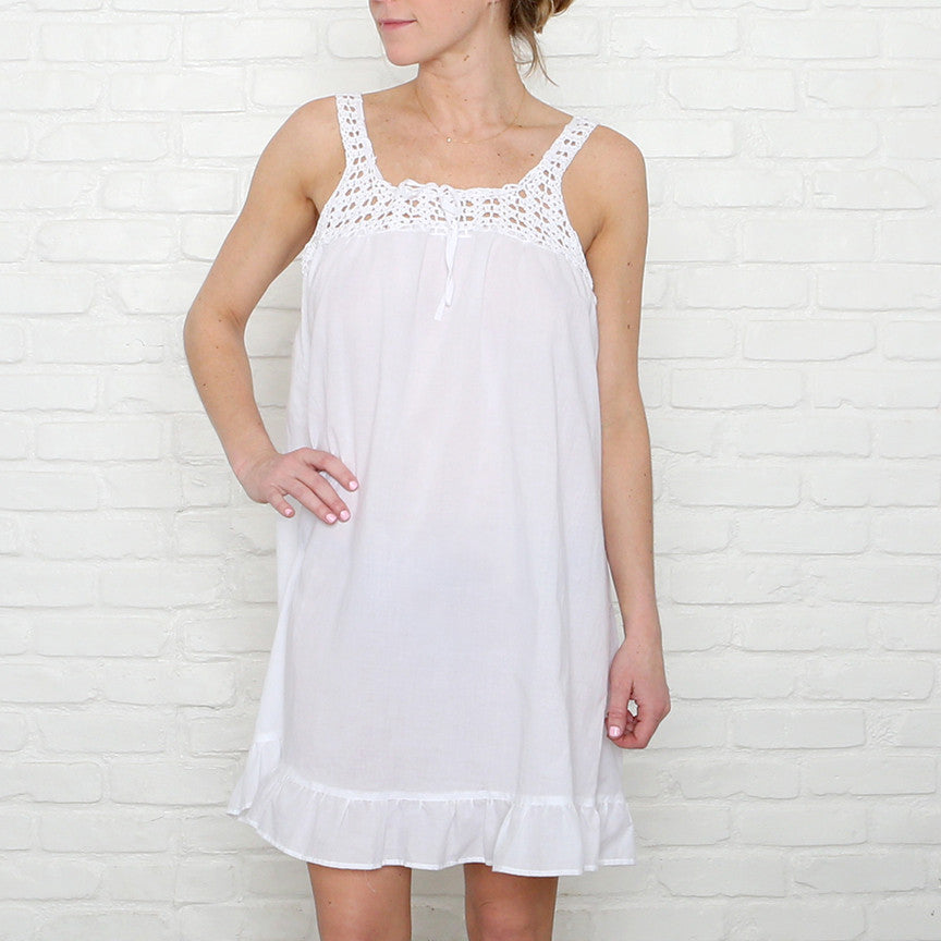 50% OFF Crochet White Nighties