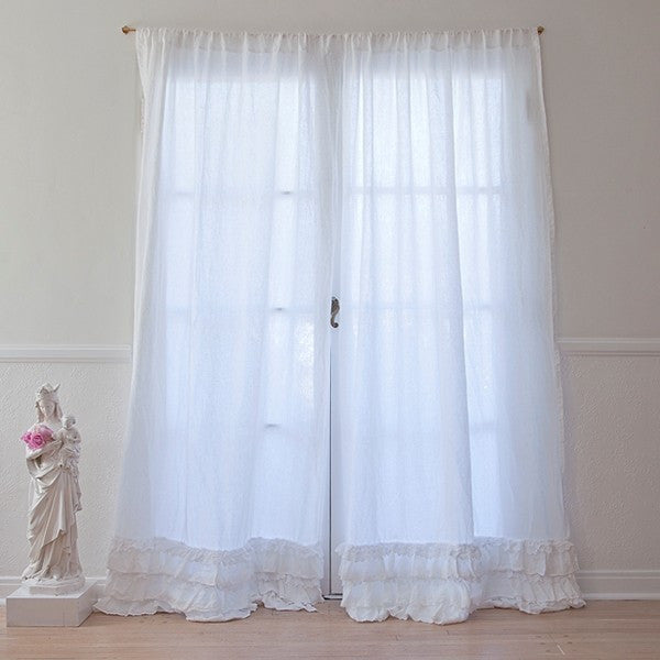 Petticoat White Curtain