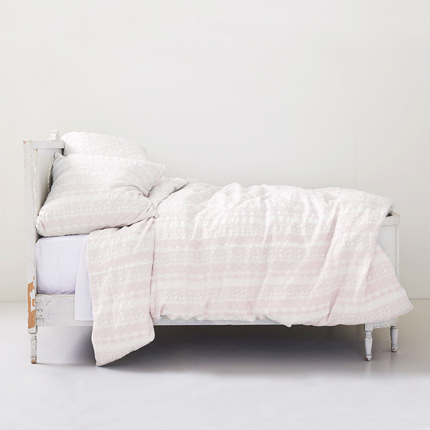 50% OFF Online Exclusive! Boho Pink Embroidered Bedding
