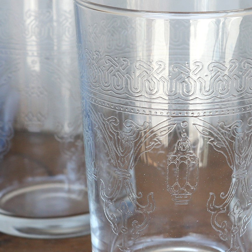 Moroccan Etched Glass/Votive Cup
