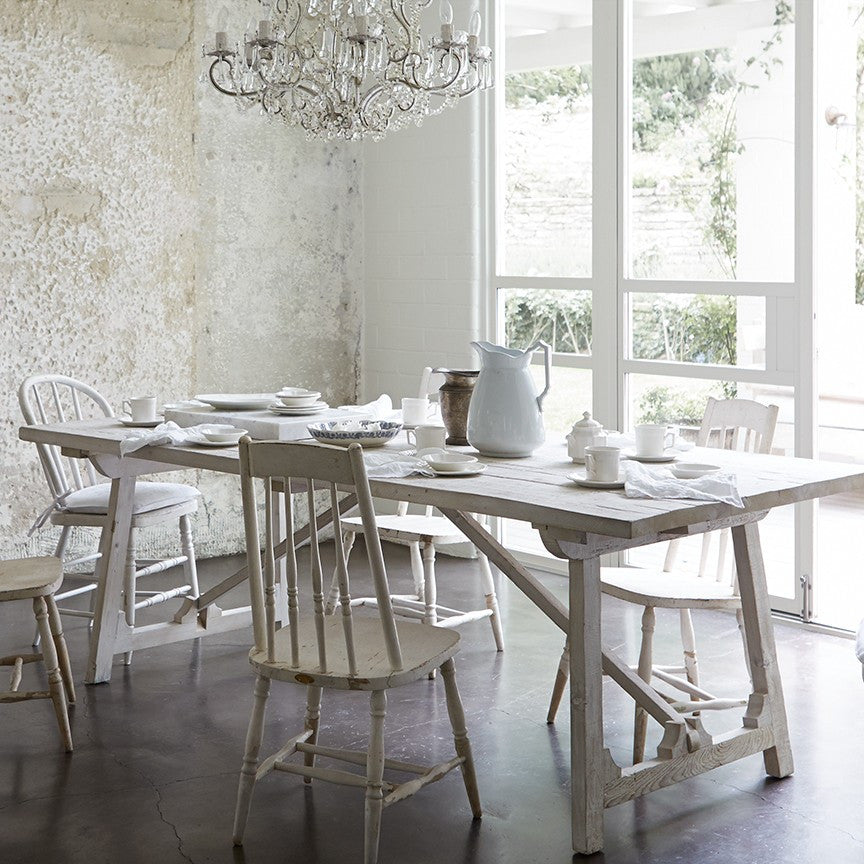 Sawyer White Washed Dining Table - BACK IN STOCK