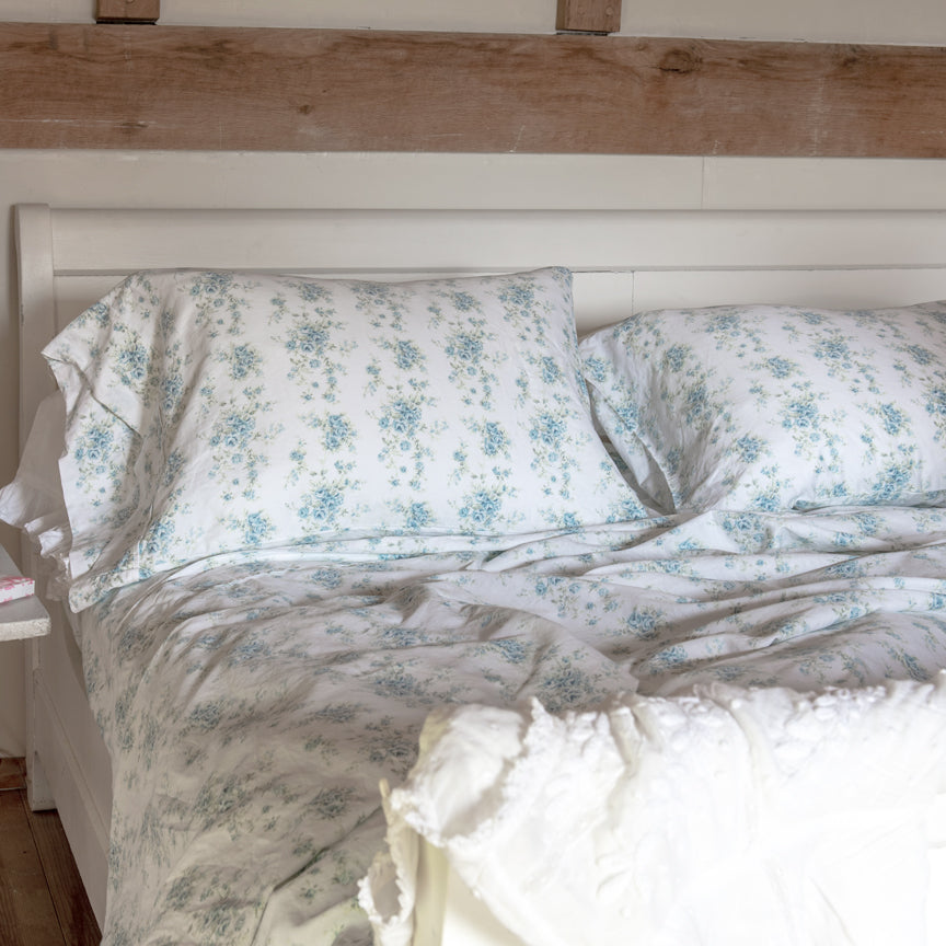 Shabby Chic™ Bedding Collection - Fleur Blue Sheet & Sham Set - Online Exclusive