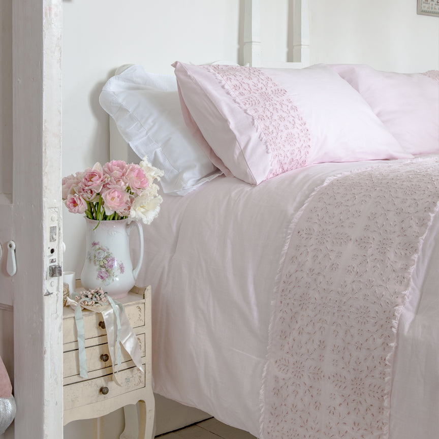 Shabby Chic Bedding Collection - Eyelet Comforter Set - Online Exclusive