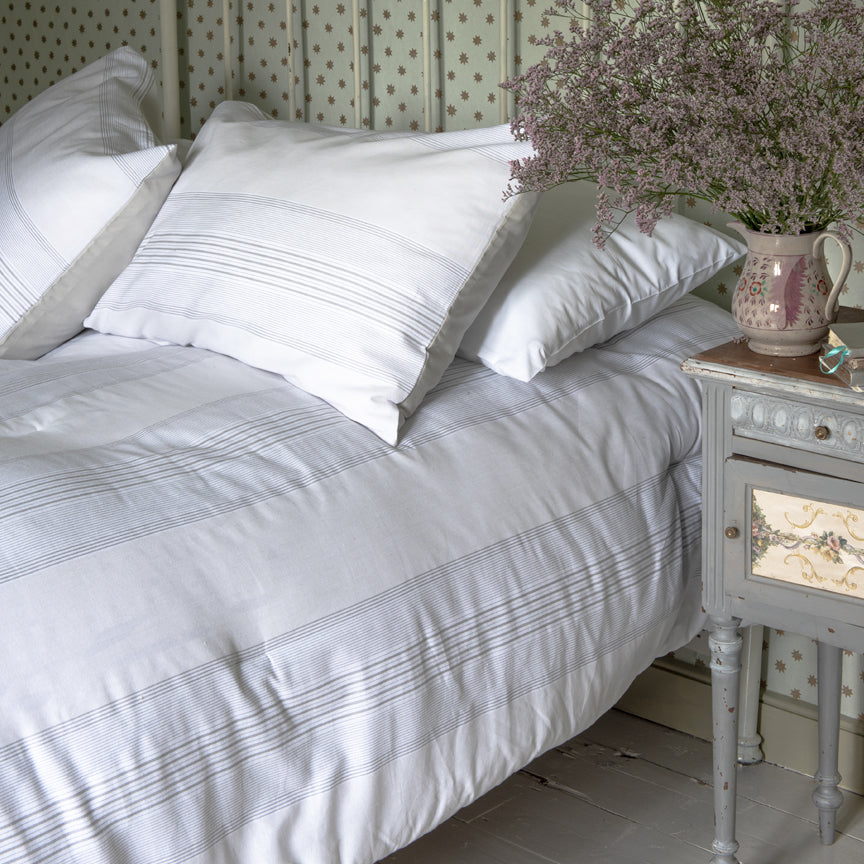 Shabby Chic Bedding Collection - Farmhouse Stripe Comforter Set - Online Exclusive