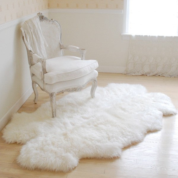 sheepskin throw rug at rachel ashwell shabby chic couture. Black Bedroom Furniture Sets. Home Design Ideas