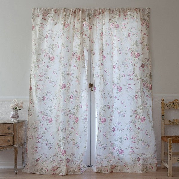 Silk Floral Curtain