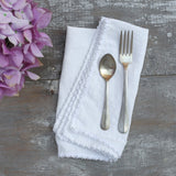 20% OFF Silver Trim Napkin