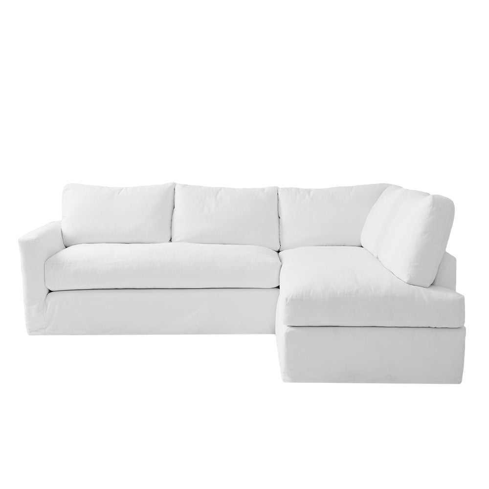Simple Sectional #shabbychic #sectional #sofa