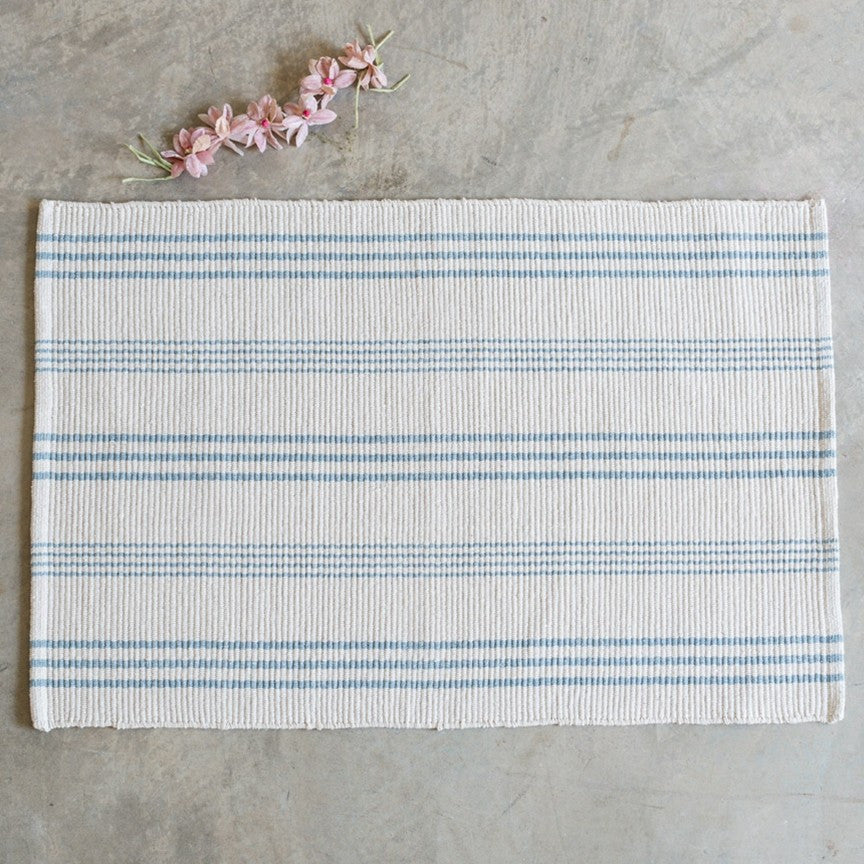 Swedish Stripe Cotton Woven Rug