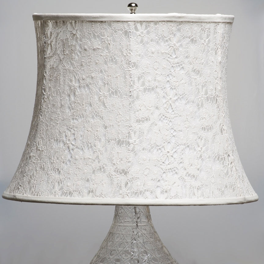 White Lace Large Lampshade