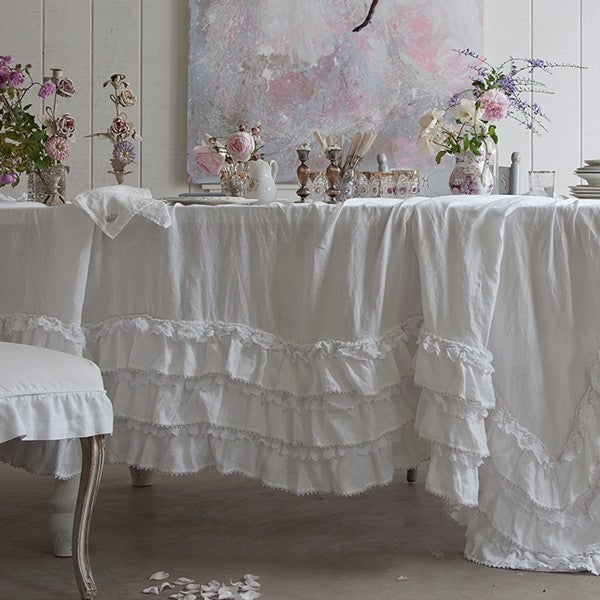 White Petticoat Tablecloth