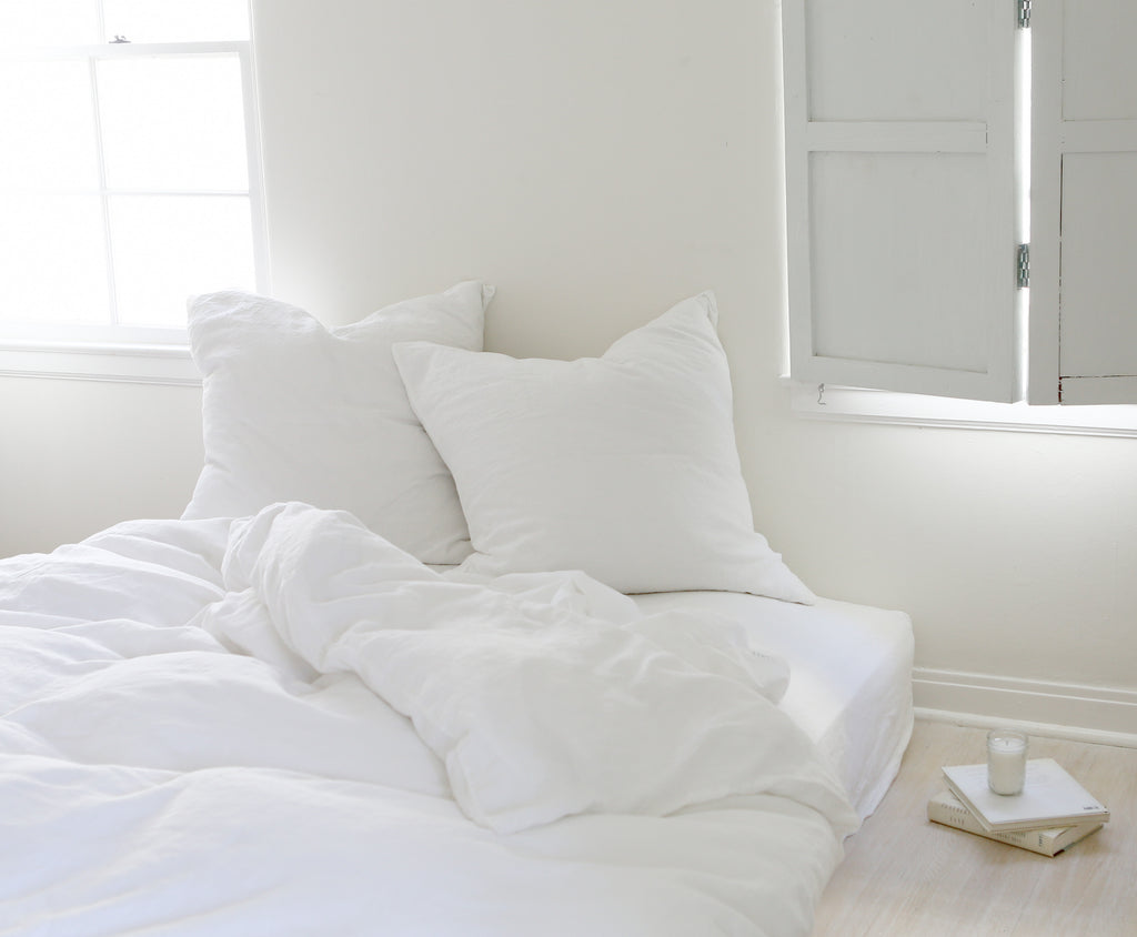 White Whisper Linen Bedding