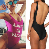 ALWAYS-ON-VACAY-Monokini-One-Piece-Bodysuit-Bikini-Swimsuit-Bathing-Suit-Beachwear purple