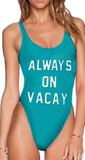 ALWAYS-ON-VACAY-Monokini-One-Piece-Bodysuit-Bikini-Swimsuit-Bathing-Suit-Beachwear turquoise green