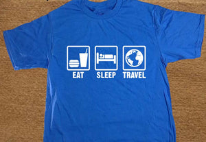 eat sleep travel t shirt tee fashion clothing inspired womens men o neck black