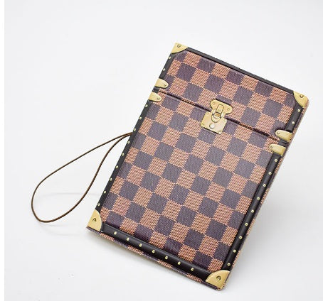 Vintage Passport Cover Fashion Luggage Printing Cover for Passport String Plaid Travel Passport Protector classic stylish cover case women