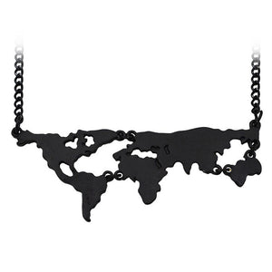 map necklace; travel necklace; travel jewelry; wanderlust jewelry; map jewelry; map accessories; world map jewelry; gold map jewelry; silver map jewelry