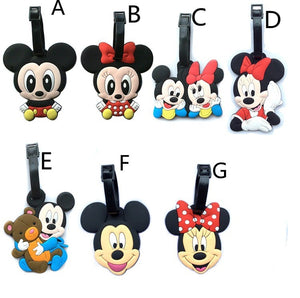 mickey mouse minnie luggage tag suitcase tags accessories accessory travel identifier disney themed characters kids children