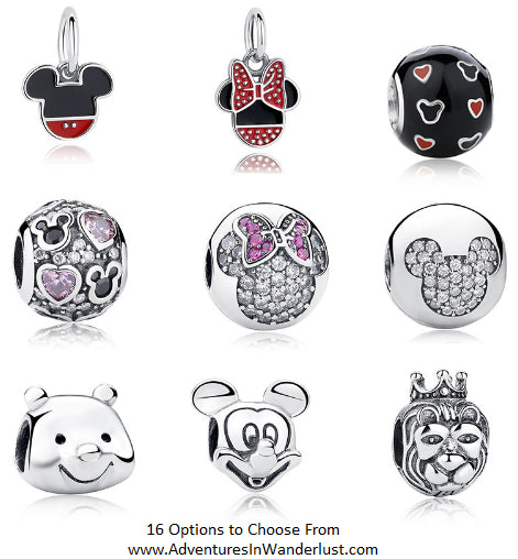 minnie and mickey mouse disney theme charm beads fit pandora bracelet pendants 925 sterling silver bangle accessories jewelry winnie the pooh king queen princess prince crown