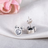 mickey minnie mouse ear rings earrings disney 925 silver plated jewelry accessories fashion walt world land accessory jewels ideas cute womens ladies women woman lady girls girl kids kid fashion