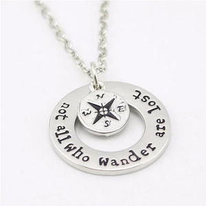 not all who wander are lost | wanderlust jewelry | wanderlust | travelers necklace | travel jewelry | not all who wander are lost pendant | not all who wander are lost necklace | not all who wander are lost jewelry | not all who wander are lost accessories | inspirational jewelry | handstamped jewelry | gift for traveler | gift ideas for travelers