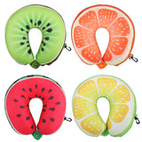U-Shaped Fruit Airplane Pillow