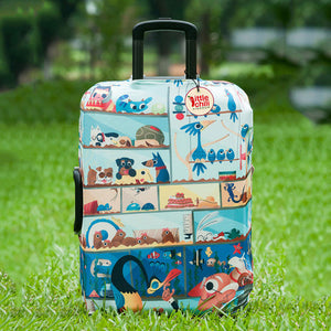 luggage protective dust cover suitcase travel clean stretch fabric design london amsterdam bottles paris bikes flower buildings city bridge san francisco small medium large 18 30 inch inches new york trolley van ness accessories airplane boat bus cruise ship tsa