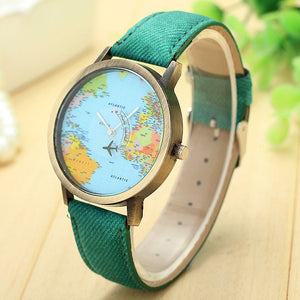 travel watch | travel jewelry | travel fashion | travel accessories | plane watch | map watch | map jewelry | map fashion | map accessories | ladies watch | globe watch | compass watch | denim watch | globe trotter watch