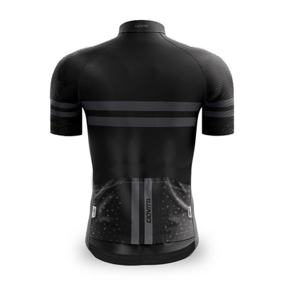 black cycling jersey back