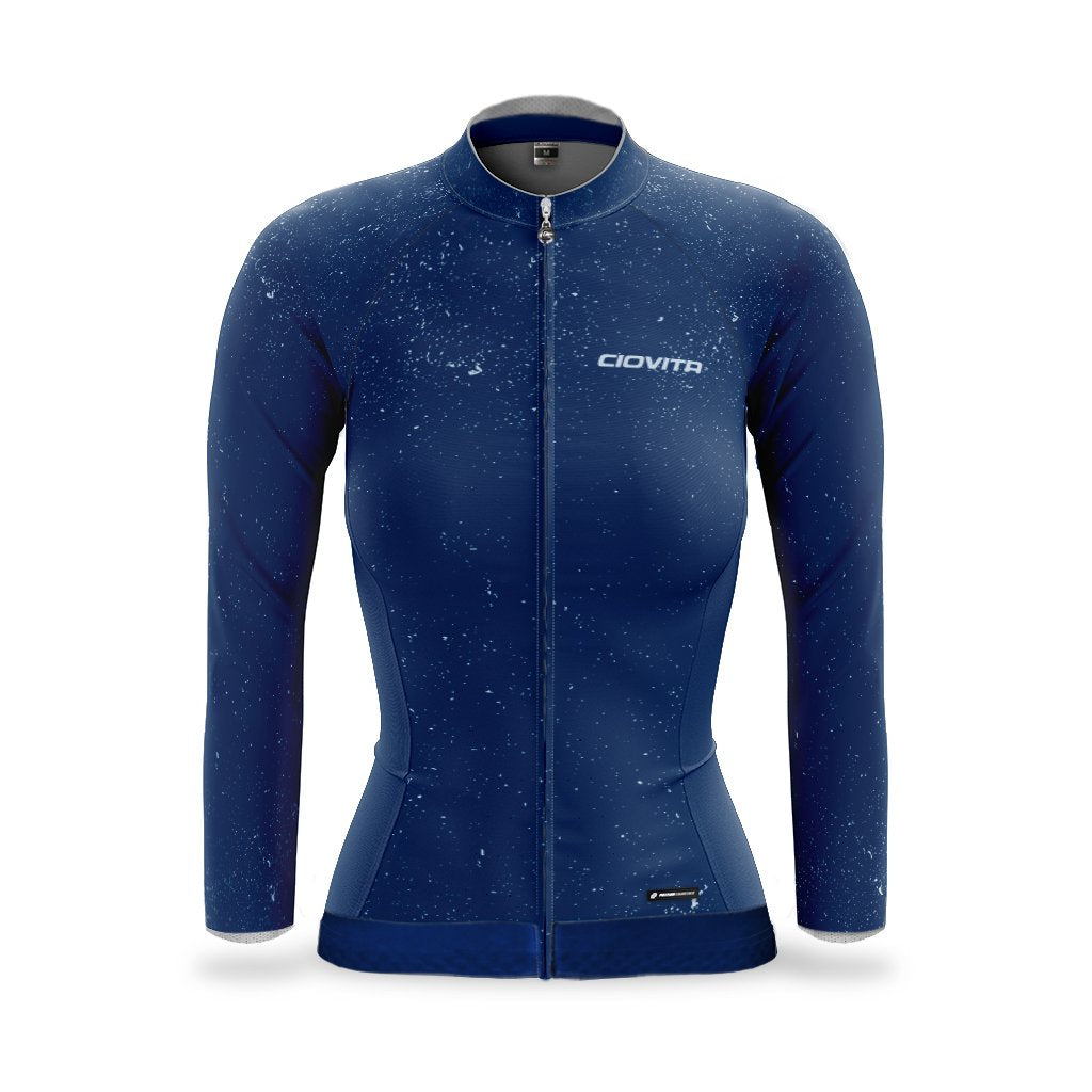 ladies dark blue lava thermal jacket