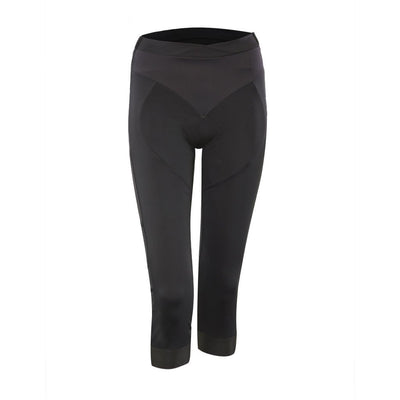 black three quarter cycling tights