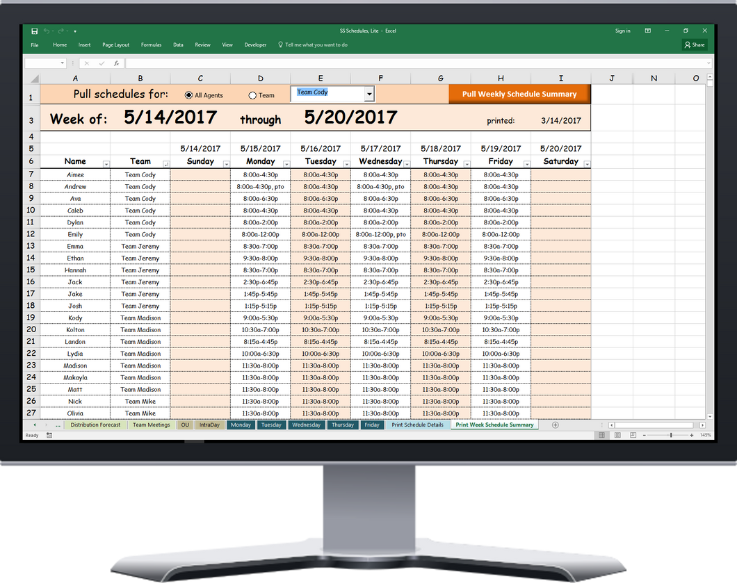 Should you use WFM software, or Excel? How about both
