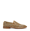 PERFORATED GOLD LOAFER