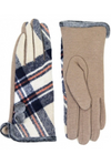 Plaid Smart Tip Gloves