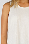 White Cotton Slub Tank